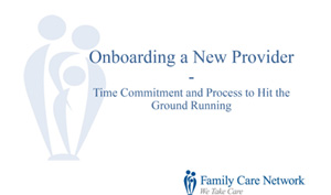 Onboarding A Provider
