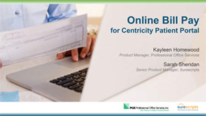 Online Bill Pay for Centricity Patient Portal