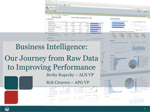 Business Intelligence- Our Journey from Raw Data to Driving Improved Performance