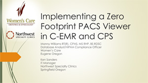 Implementing a Zero footprint PACS viewer in C-EMR and CPS