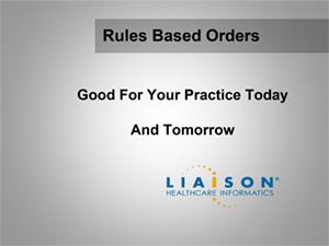 Rule Based Ordering