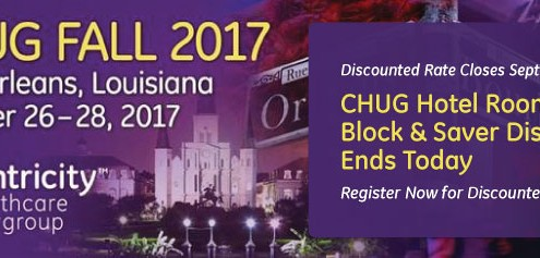 CHUG Hotel Room Block & Saver Discount Ends Today - Register Now!
