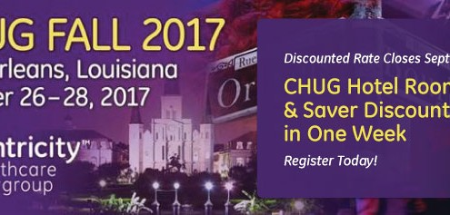 CHUG Hotel Room Block and Saver Discount Ends in One Week! Register Now!