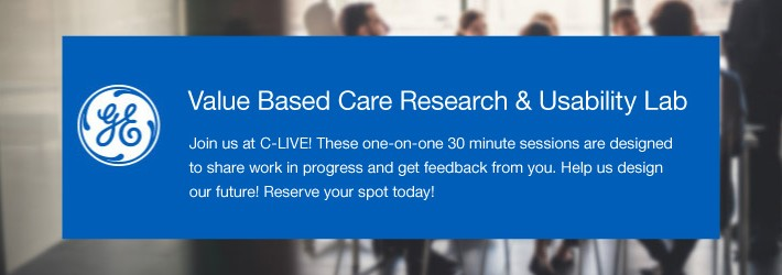 Come join us in the Value Based Care Research & Usability Lab at C-LIVE!