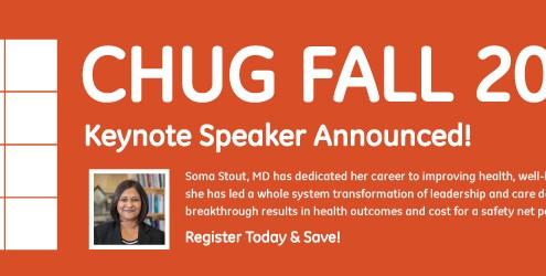 CHUG Fall 2018 Keynote Speaker Announced