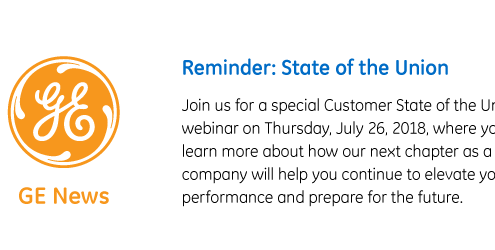 GE Customer State of the Union Webinar