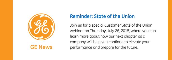 GE Customer State of the Union Webinar